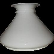 """Victorian 7"""" White Bristol  Kerosene Oil Student Lamp Shade"""