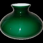 Victorian Cased Green Tam-O-Shanter Kerosene Oil Student Lamp Shade