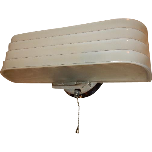 Bathroom Light Fixture Pull Chain vintage streamlined deco 2 light bulb chrome bathroom wall fixture