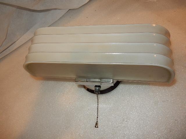vintage streamlined deco 2 light bulb chrome bathroom wall fixture w