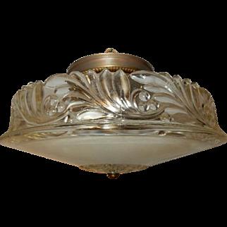 Antique frosted glass art deco Flush Mount light fixture ceiling chandelier