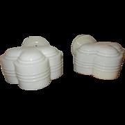 Pr. Extraordinary Art Deco Bathroom Game room Porcelain and Milk Glass Wall Sconce------ORIGINAL