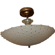 Frosted Hobnail glass Original Art Deco Light Fixture Ceiling Chandelier