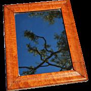 Antique English Maple Mirror c. 1860