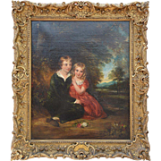 """Lord Gordon & His Sister"" in Period Giltwood Frame, Sir William Charles Ross (RA 1794-1860)"
