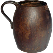 Mid-19th Century Heavy Cast Iron Jug Marked 'A Kenrick & Son'