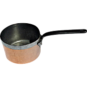 Vintage Copper Saucepan Marked Harrods of London