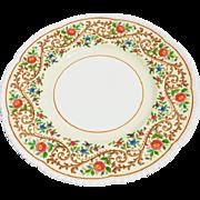 12 Vintage English Cauldon Floral Service/Luncheon Plates