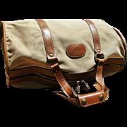 """Vintage Ghurka """"Cargo II"""" Marley Hodgson Duffle Bag, Twill Fabric with Leather Trim"""
