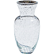 Modern Urn Shaped Vase with 'Captured Bubbles'