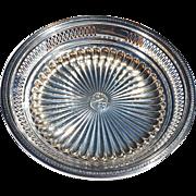 Circular Pierced Sterling Silver Centerpiece Marked for Gorham 1922 Pinehurst, NC, Golf Trophy