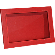 Milano Series Red Faux Leather Picture Frame