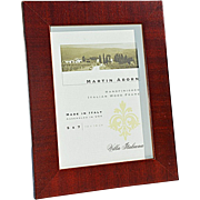 Hand-Finished Italian Wood 5x7 Picture Frame by Martin Aborn