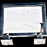 Exceptionally Rare Art Deco Sterling Silver Frame Marked for Georg Jensen, Denmark