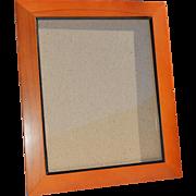 8x10 Solid 'Pecan' Colored Wood Frame, Black Inside Edge & Velvet Backing