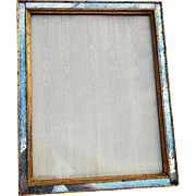 Exceptional Vintage Custom Frame with Antiqued Mirror/Gilt Wood Edging