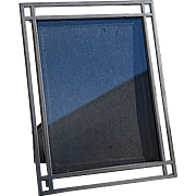 Modern Pierced Gray Wrought Iron 8x10 Picture Frame