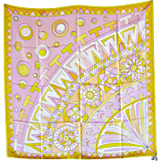 "All-Silk Vintage Emilio Pucci ""Ferris Wheel"" Scarf"