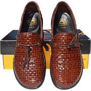 Sporty Brown Woven Leather Loafers, Solvei by Dansko
