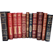 Set of Eleven (11) Vintage Franklin Library Leather & Gilt Tooled Books – Lot 'B'