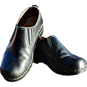 Dansko Black Leather Clogs from Denmark Gently Used