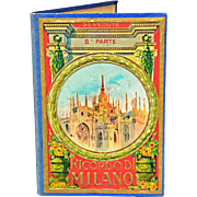Charming Vintage Tourist Souvenir Photo Book of Milan's Duomo