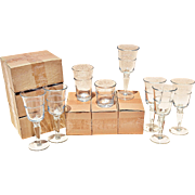 18 Piece 'Juniper' Glassware Set by Artland, Inc.: 6 Wine, 6 Highball & 6 DOF - Red Tag Sale Item