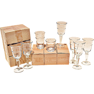 18 Piece 'Juniper' Glassware Set by Artland, Inc.: 6 Wine, 6 Highball & 6 DOF