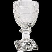 Single Vintage Liqueur Stem Fully Etched/Decorated