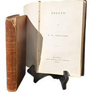 """""""Emerson's Essays,"""" First and Second Series, 1841 and 1844"""