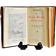 "Ralph Waldo ""Emerson's Essays: 1st & 2nd Series"" in One Volume"