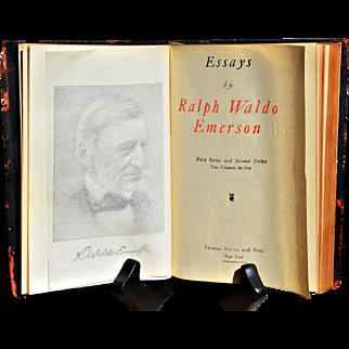 "Ralph Waldo ""Emerson's Essays: 1st & 2nd Series"" in One Volume"