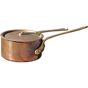 French Mini Copper Pot with Lid