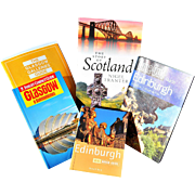 Four Travel Books and One Art Pamphlet on Scotland