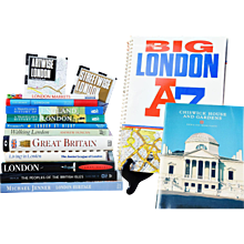 A Variety of Qualty London Guide Books, Maps and Traveler's History Books - Red Tag Sale Item