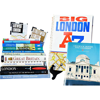 A Variety of Qualty London Guide Books, Maps and Traveler's History Books