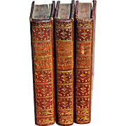 "Three Miniature Volumes from a Series Called ""Bibliotheque Amusante"""