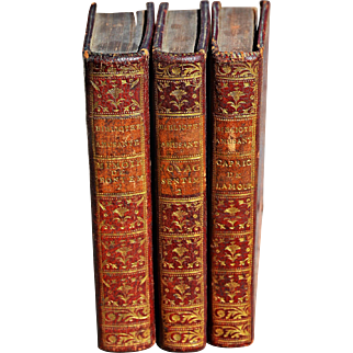 """Three Miniature Volumes from a Series Called """"Bibliotheque Amusante"""""""