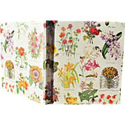 Big, Bright, Eye Catching Vintage Journal/Notebook Covered with Blooming Plants