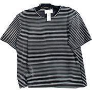 Rena Rowan Striped Black & White Short Sleeved Tee