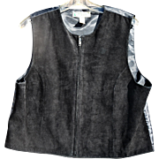 Nice Quality Black Leather Vest from Marsh Landing Petites