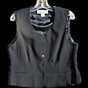 Rena Rowan's Black Tailored Women's Vest, Size 14P