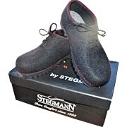 Stegmann 'Wild & Wooly' Graphite Boiled Wool Felt Oxford, Women's 8 - Red Tag Sale Item