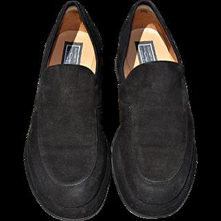 Vintage Black Suede Loafer from Designer Elizabeth Stuart