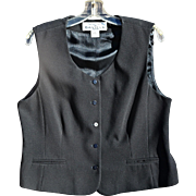 Rena Rowan's Black Tailored Women's Vest, Size 14P
