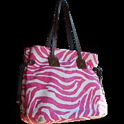 Dooney & Bourke Pink & White 'Zebra' Patterned Shoulder Bag, 1975