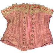 Antique FRENCH Doll Corset.