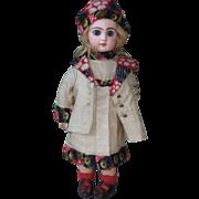 original factory made by SFBJ-JUMEAU -silk DRESS FOR AROUND 13 inch doll