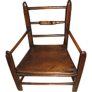 antique 18th century DUTCH CHILD -- DOLL oak CHAIR