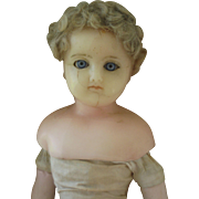 Two antique WAX Dolls  need repair.